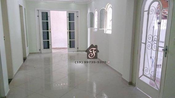 Casa Com 3 Dormitórios À Venda, 200 M² Por R$ 580.000 - Jardim Santa Eudóxia - Campinas/sp - Ca0096