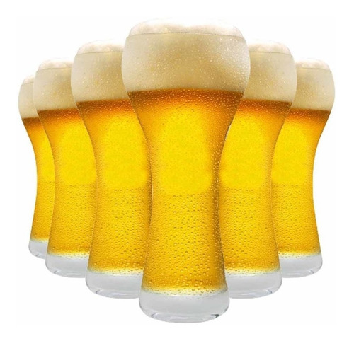 Imagem 1 de 3 de Jogo Copos Ritzenhoff Cerveja Premium M Cristal 360ml 6 Pcs