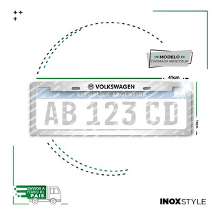 1 Cubre Patente Vw Volkswagen Gol Trend Saveiro Suran Up! Fox Bora Golf Polo Virtus Voyage Marco Protector Accesorio X1
