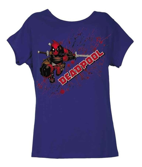 Remera, Marvel, Deadpool Espada Dama Original Licencia Ofici
