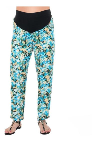Pantalón Fibrana Floreado - Qué Será? Futura Mamá