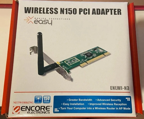 Imagen 1 de 3 de Placa Wifi Pc Escrit. Wireless N150 Pci Adapter - Aj Hogar