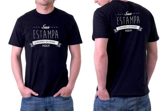 Camisetas Gola Redonda Estampado Sua Logo - 20 Peças