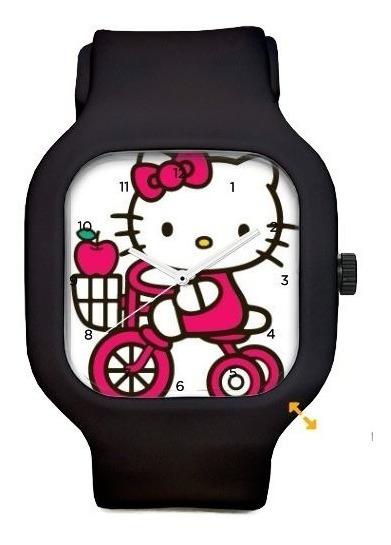 Relógio Hello Kitty De Pulso A Prova Dagua Troca Pulseiras