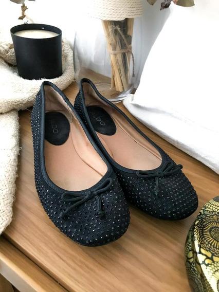 Zapatos Chatitas Aldo Con Brillitos