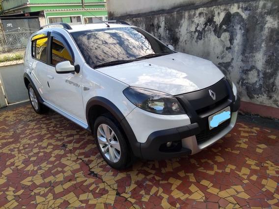 Renault Sandero Stepway 1.6 8v - Flex + Gnv - 2014 - Branco