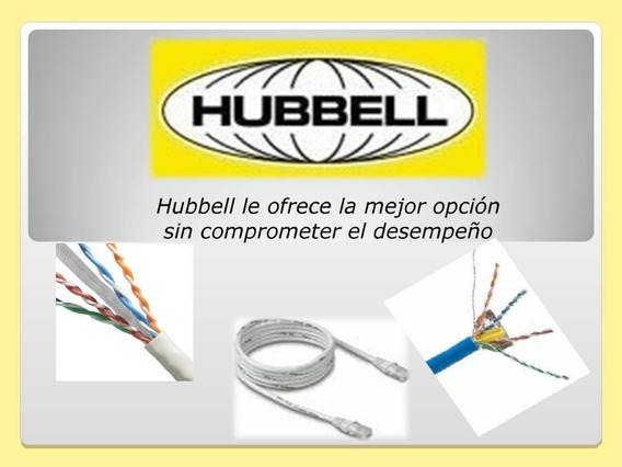 Cable Utp Cat 6 Remate Marca (10 Metros) Hubbell 100% Cobre