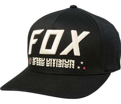 Imagen 1 de 3 de Gorra Triple Threat Flexfit Negra Motocross Atv Fox Juri