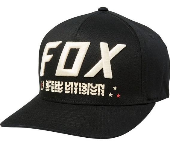 Gorra Triple Threat Flexfit Negra Motocross Atv Fox Juri