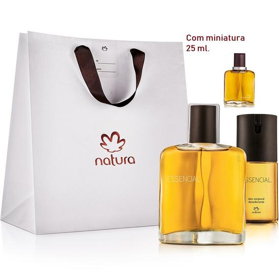 Kit Natura Essencial Clássico Masculino   100% Original