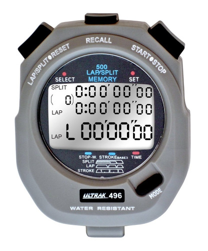 Ultrak 496500lap Memoria Cronómetro