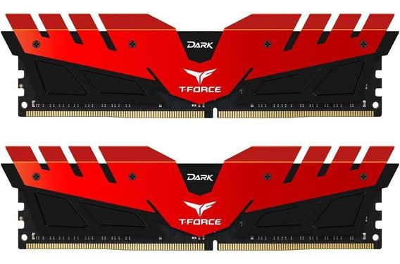 Memoria Ram 16gb Team T-force Dark (2 X 8gb) 288-pin Ddr4 Sdram Ddr4 3000 (pc4 24000) Modelo Tdred416g3000hc16cdc01