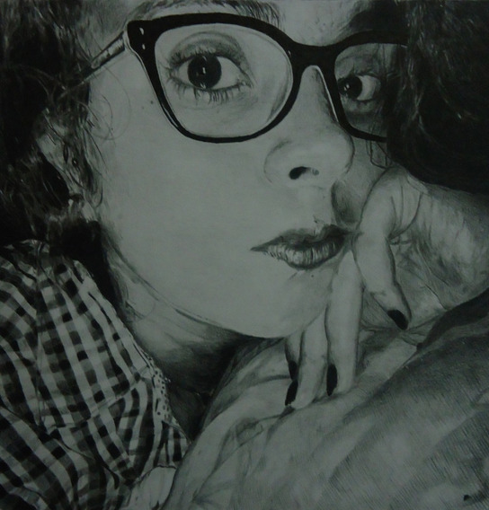 Retratos En Grafito Y Carboncillo