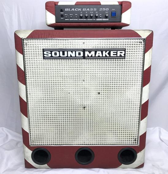 Set Amplificador Black Bass 250 Sound Maker P/ Contra Baixo