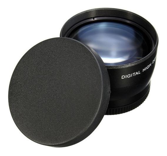 Super Lente Telefoto 62mm 2.2x Câmera Dsrl Sony Canon Nikon