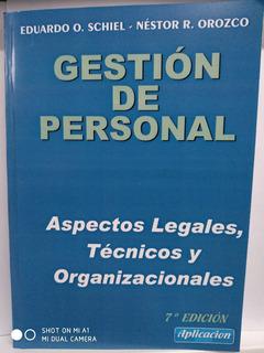 Gestión De Personal - Aspectos Legales, Técnicos - Nov.2019
