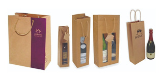 Bolsas De Papel Liner Kraft - Bolsas Personalizadas Botella