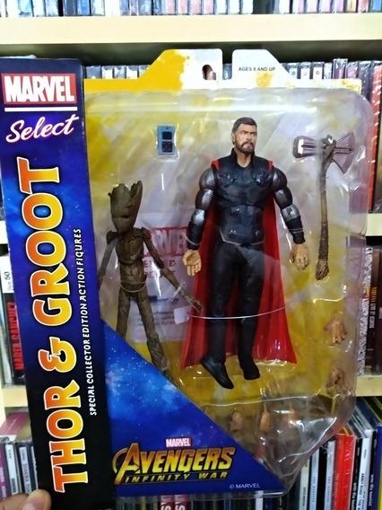 Figura Thor & Groot - Marvel Select Avengers Infinity