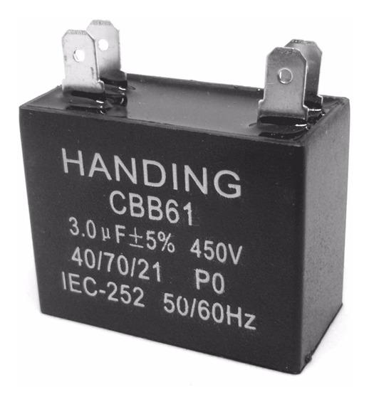 5 Unids Capacitor Partida 3uf X 450vac Faston Cbb61 40/70/21