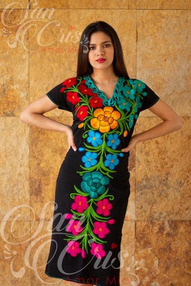 Vestido Primavera / Artesanal Bordados Zinacantan Chiapas.
