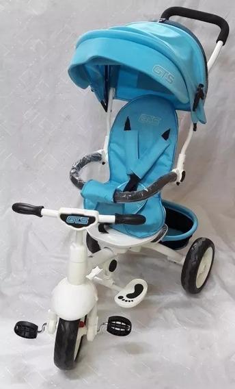 Triciclo Direccional Con Capota Mp3 Y Sonidos Gts Bebitos