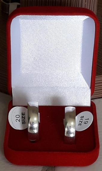 Par Aliança Aço Inox. De 150,00 Por 90,00. Entrega Rápida
