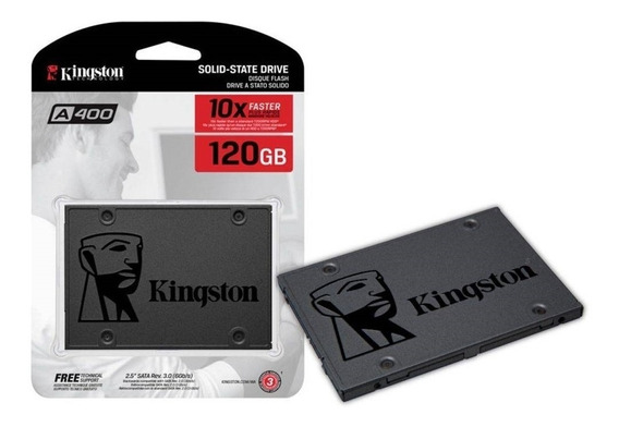 Ssd Kingston A400 120gb 320mb/s Pc/notebook - Original C/ Nf