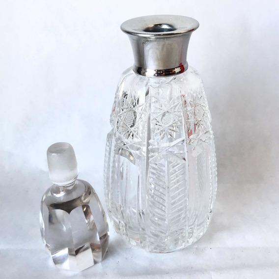 Petit Licorera Antigua De Cristal De Bohemia