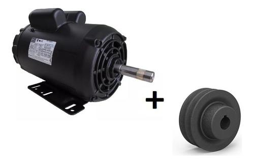 Imagem 1 de 7 de Motor Weg Monofásico 3cv 2 Pólos Alta Rotação Com Polia