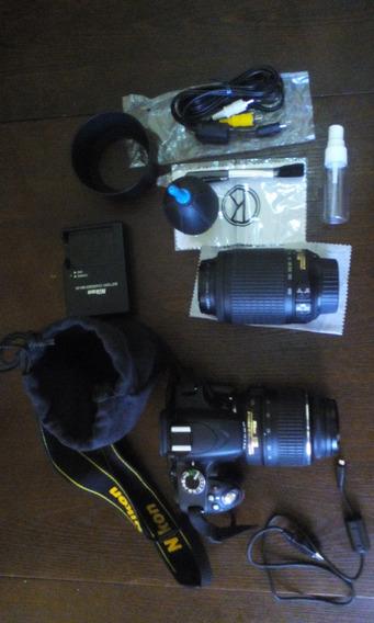 Camara Nikon D3200 Lente 18-55mm Y 55-200mm Memoria 16gb