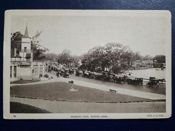 Antigua Postal Del Parque De Palermo De La Ciudad De Buenos