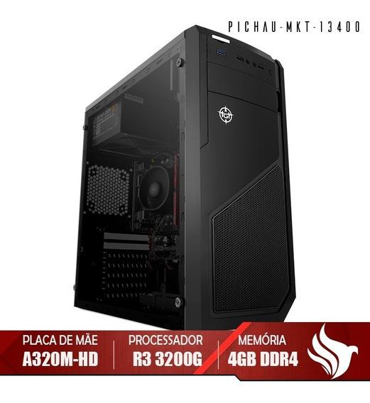 Computador Pichau Home, Ryzen 3 3200g,4gb Ddr4,hd 1tb, 500w
