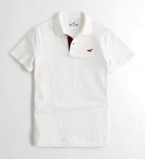 488d2e4388cea Camisetas Tipo Polo Precio Por Unidad · Camiseta Tipo Polo Hollister Blanca  Talla L Large Hombre