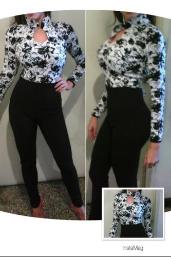 Conjunto Pantalon Talle Alto Y Blusa Crotop Casual Elegante Mercado Libre
