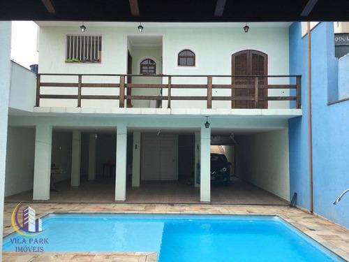 Imagem 1 de 29 de Lindo Sobrado 5 Dormitórios Suítes Com Planejados, Excelente Área De Lazer Com Piscina, 4 Vagas - Quitaúna - Osasco/sp - So0285