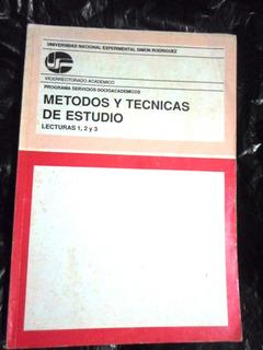 Libro Metodos Y Tecnicas De Estudio Universi Simon Rodriguez
