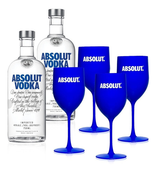 Kit Vodka Absolut Party Iv