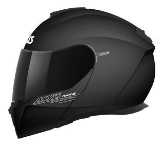 Casco Abatible Axxis Gecko Solid Ece 2205 Dot Negro Mate