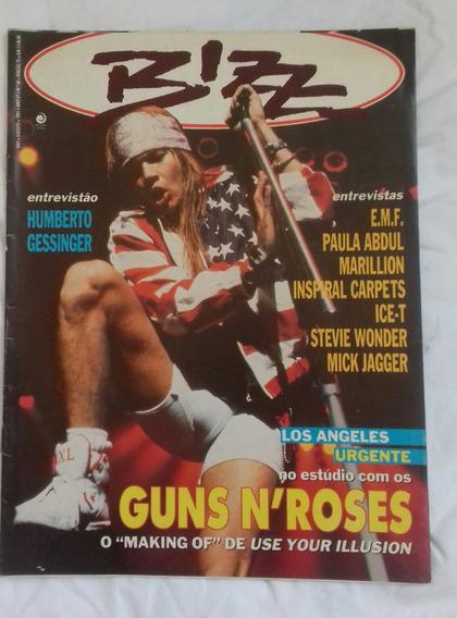 Revista Bizz Nº73 Guns N Roses Humberto Gessinger Inteiraça!