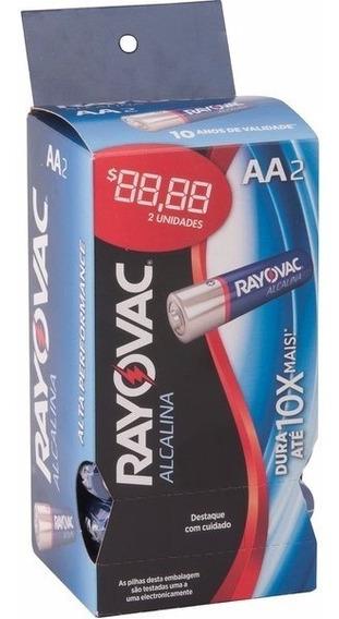 Pilha Alcalina Aa Tubo Com 32 Peças Rayovac Controle Rc
