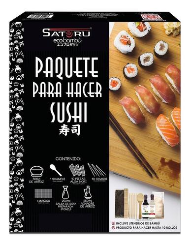 Paquete Para Hacer Sushi Satoru De 8 A 10 Rollos