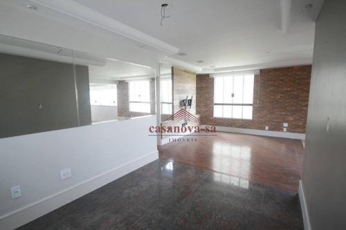 Apartamento Com 3 Dormitórios, 197 M² - Venda Por R$ 1.100.000,00 Ou Aluguel Por R$ 3.300,00/mês - Jardim - Santo André/sp - Ap0600