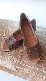 Sandalia Artesanal De Couro (sapatilha)