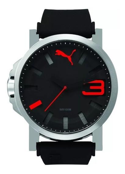 Reloj Puma Nuevo Nego/rojo Orignal Refurbished Pu103911006.