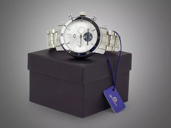 Relógio Masculino Spaceman Branco Analógico Luxo Promoção