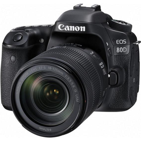 Câmera Canon 80d + 18-135mm F/3.5-5.6 Is Usm - Lj. Platinum