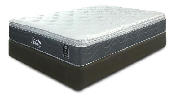 Colchon Y Box Sealy Queen Size Bo Posturepedic Envio Gratis