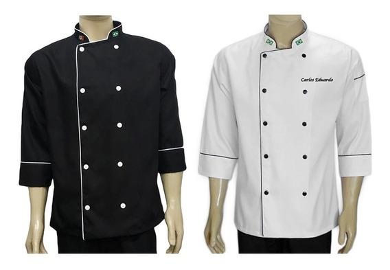 Kit 2 Dolmas Personalizado Bordado Gastronomia Logomarca