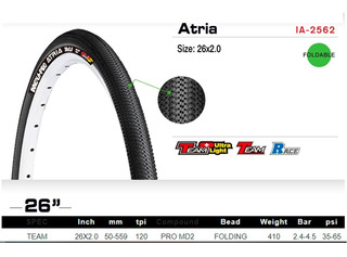 Cubierta Innova Pro Atria 26x2.0 - Kevlar - 60 Tpi