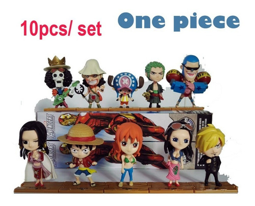Figura Muñeco Anime One Piece Set Luffy Soro Sanji Nami Mas